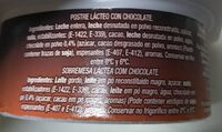 Natillas de chocolate - Informació nutricional - es