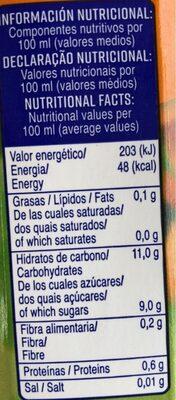 Zumo naranja Froiz - Informations nutritionnelles