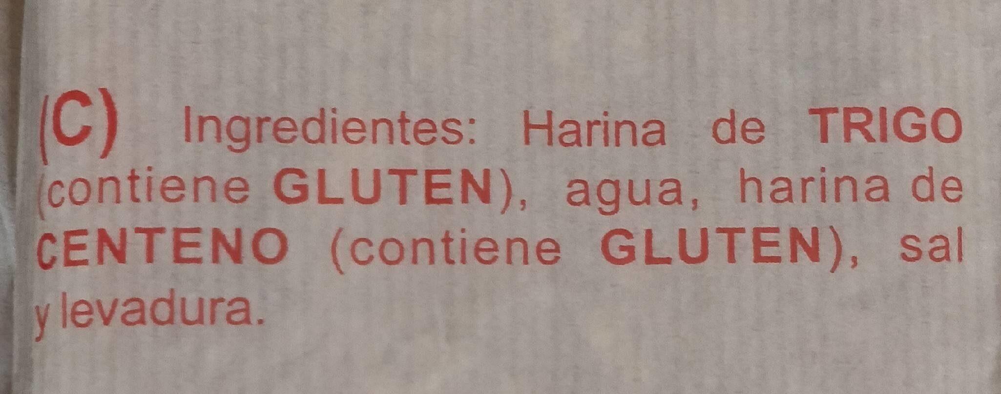 Pan barra gallega - Nutrition facts - es