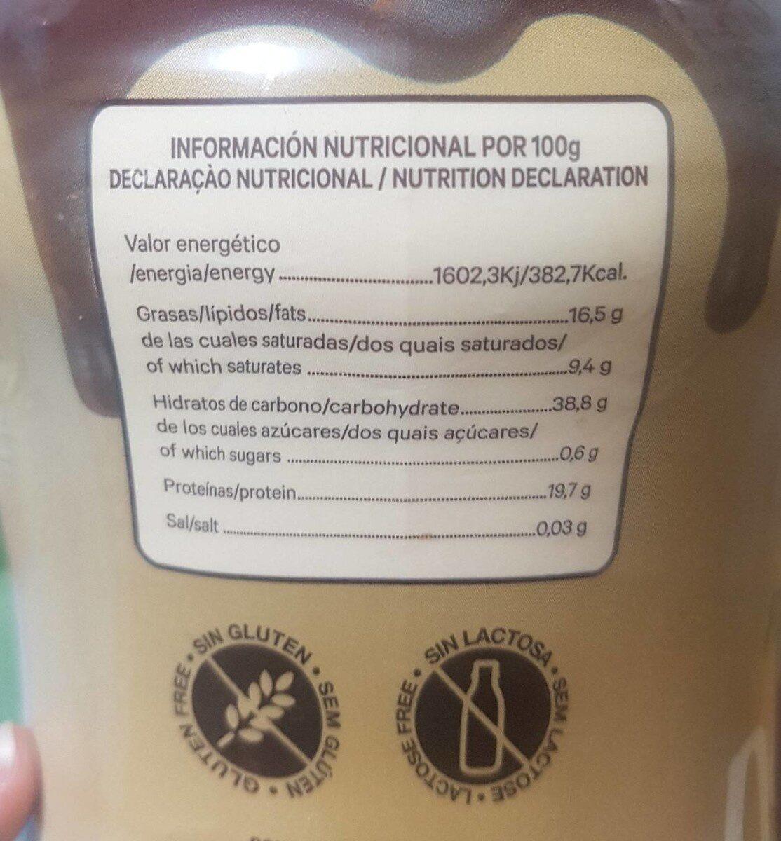 Cacao puro en polvo desgrasado 0% - Información nutricional