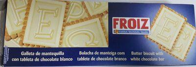 Galletas de mantequilla con tableta de chocolate blanco