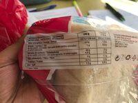 Pan de molde sin corteza - Nutrition facts
