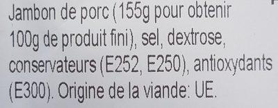 Chiffonade jambon serrano - Ingredients - fr