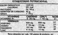 Lentejas rubias Origen La Armuña - Nutrition facts