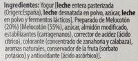 Yogur con melocotón de murcia - Ingredients