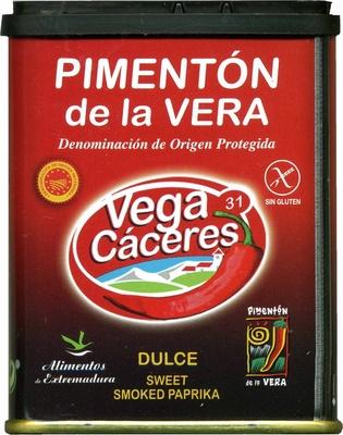 Pimentón dulce ahumado Origen La Vera