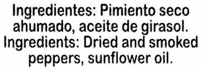 Pimentón dulce ahumado Origen La Vera - Ingredientes