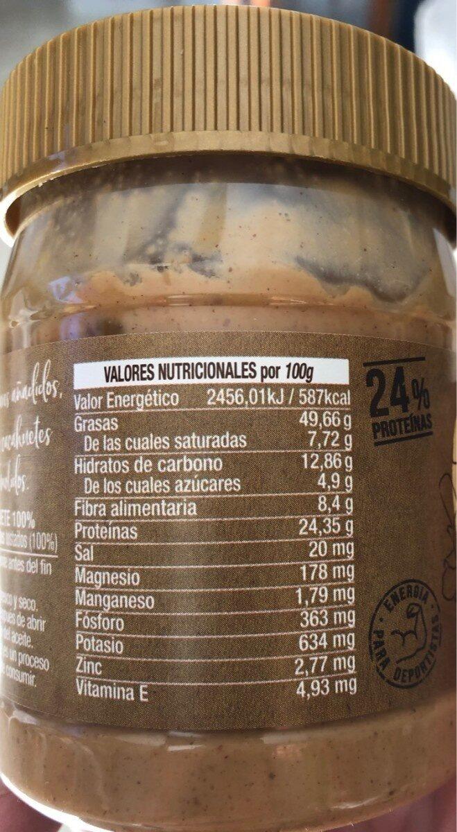 Crema Cacahuetes - Información nutricional