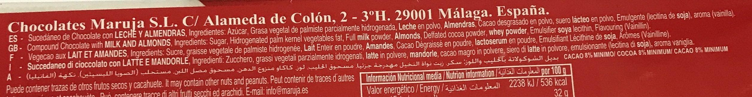 Maruja - Ingredients - fr