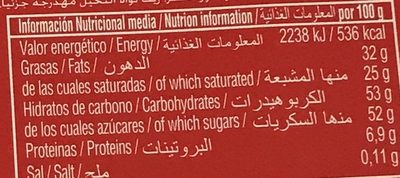 Maruja - Nutrition facts - fr