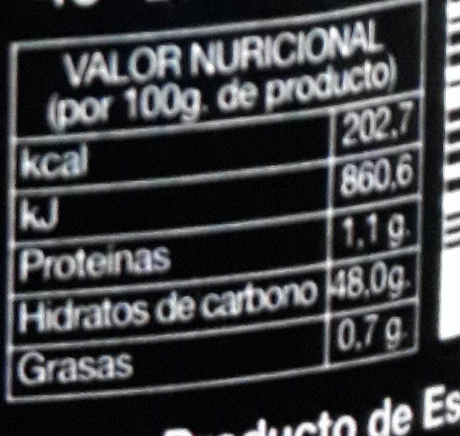 Mermelada de Arándanos ECO - Voedingswaarden - es