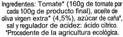 """Tomate frito ecológico """"ConserBio"""" - Ingredients"""