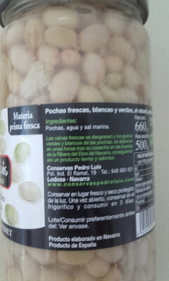 Pochas verdes y blancas - Ingredients