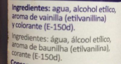 Aroma de vainilla - Ingrédients