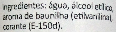 Aroma de vainilla - Ingredientes - pt
