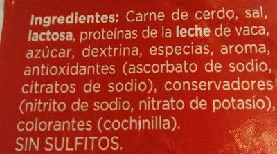 Longaniza payés extra - Ingrediënten - es