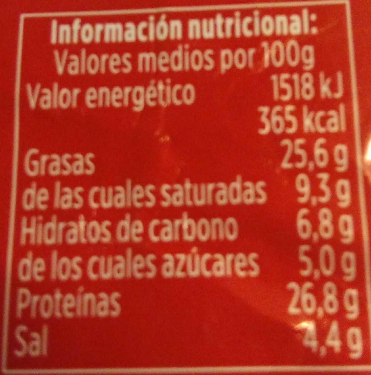 Longaniza payés extra - Voedingswaarden - es