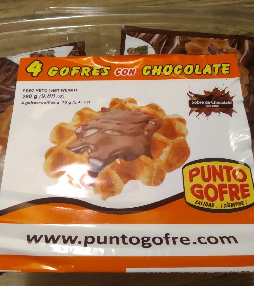 Gofres con chocolate - Product