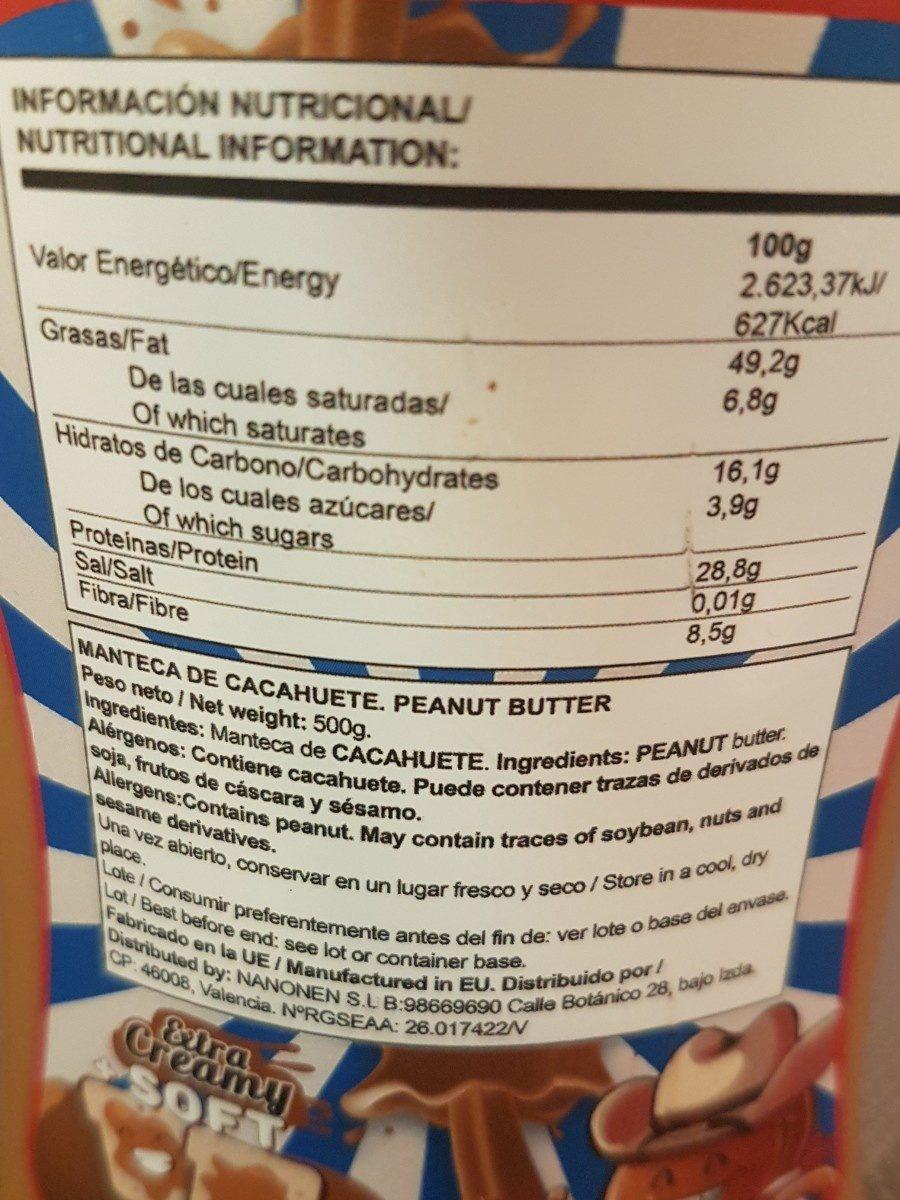 Creamy peanuts butter - Ingredientes - fr