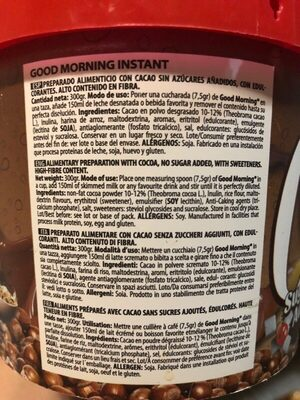 Good morning instant nutchoc - Ingredientes