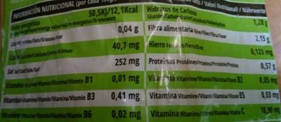 Apio blanco - Informations nutritionnelles - fr