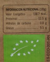 Huevos - Información nutricional - es