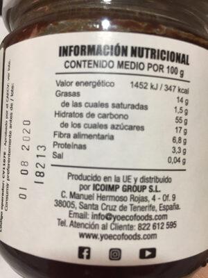 Crema de avellanas y cacao - Nutrition facts