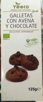 Galletas con avena y chocolate - Produit - es