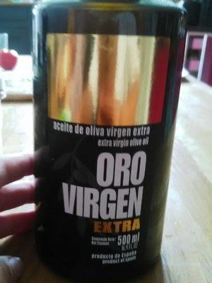 Aceita de oliva virgen extra - Produit