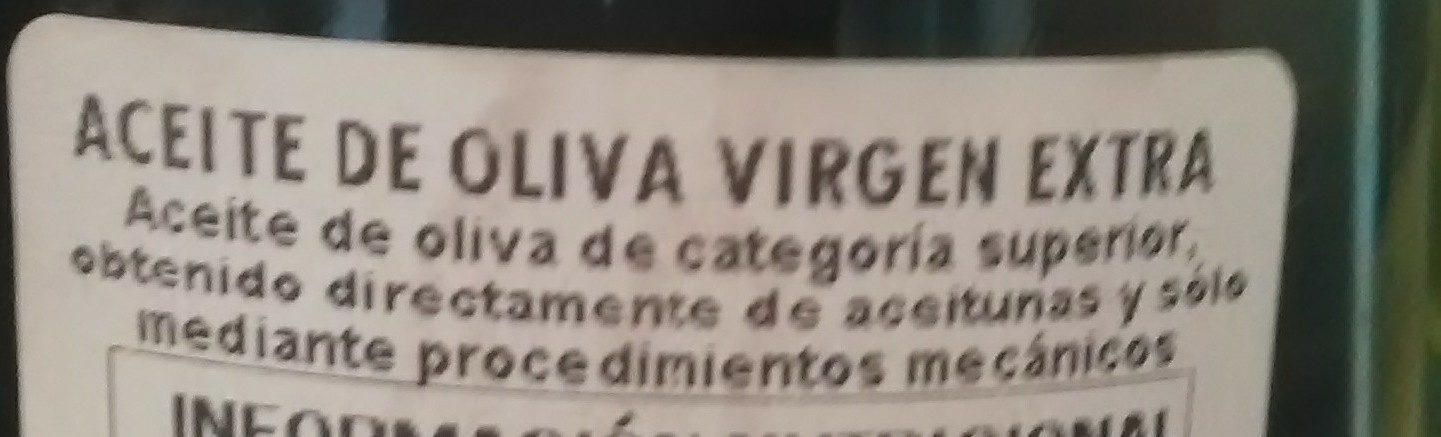 Aceita de oliva virgen extra - Ingrédients