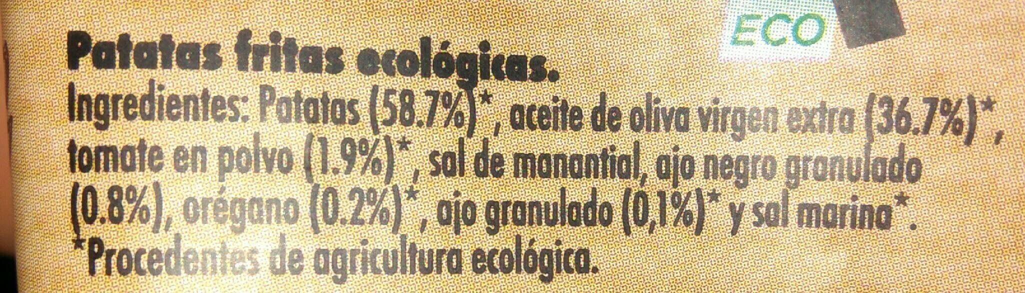 ECOPAPAS - Información nutricional - es