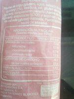 Barra de pan 41% integral - Información nutricional