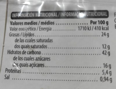 Berlina Glasé (Donut Azúcar) - Nutrition facts - es