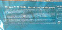 Preparado paella marisco - Información nutricional - es