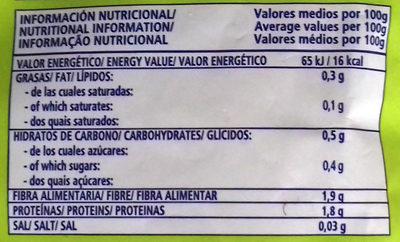 Salteado de Setas - Informació nutricional