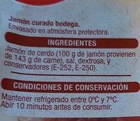 Mini Marquitos de jamón bodega - Nutrition facts