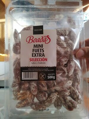 Mini Fuets Extra Selección - Información nutricional