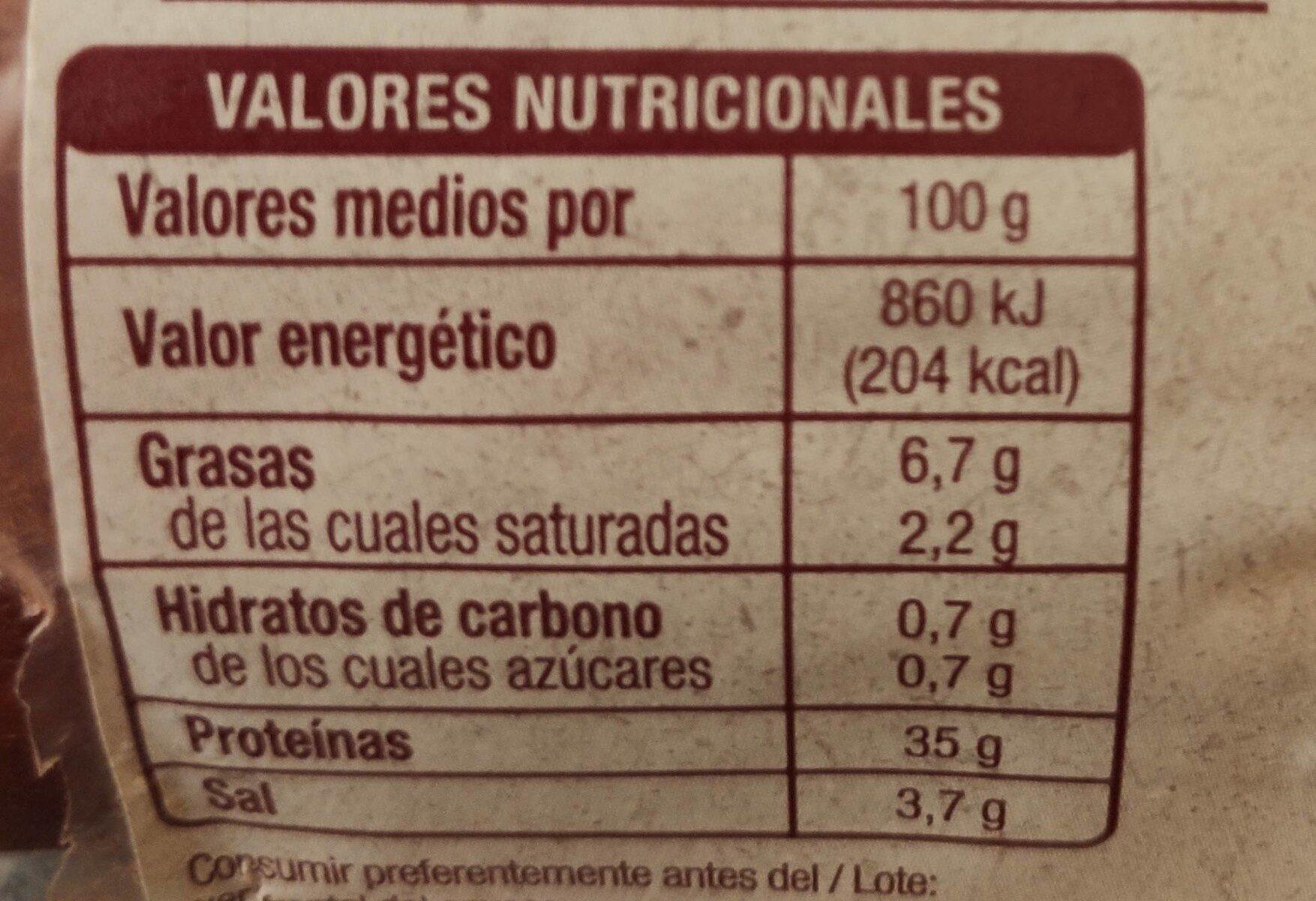 Lomo embuchado - Nutrition facts - es