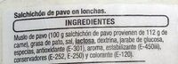 Salchichón de pavo - Ingrédients - es