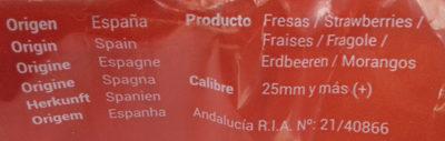Fresas - Ingredients