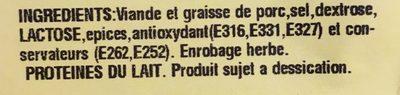 Fouet Catalan Paysan Fines Herbes - Ingrédients