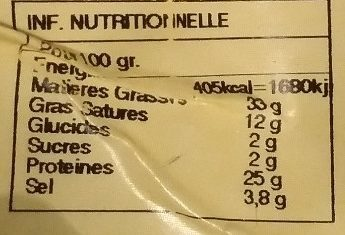 Fouet Catalan Paysan Fines Herbes - Nutrition facts - fr