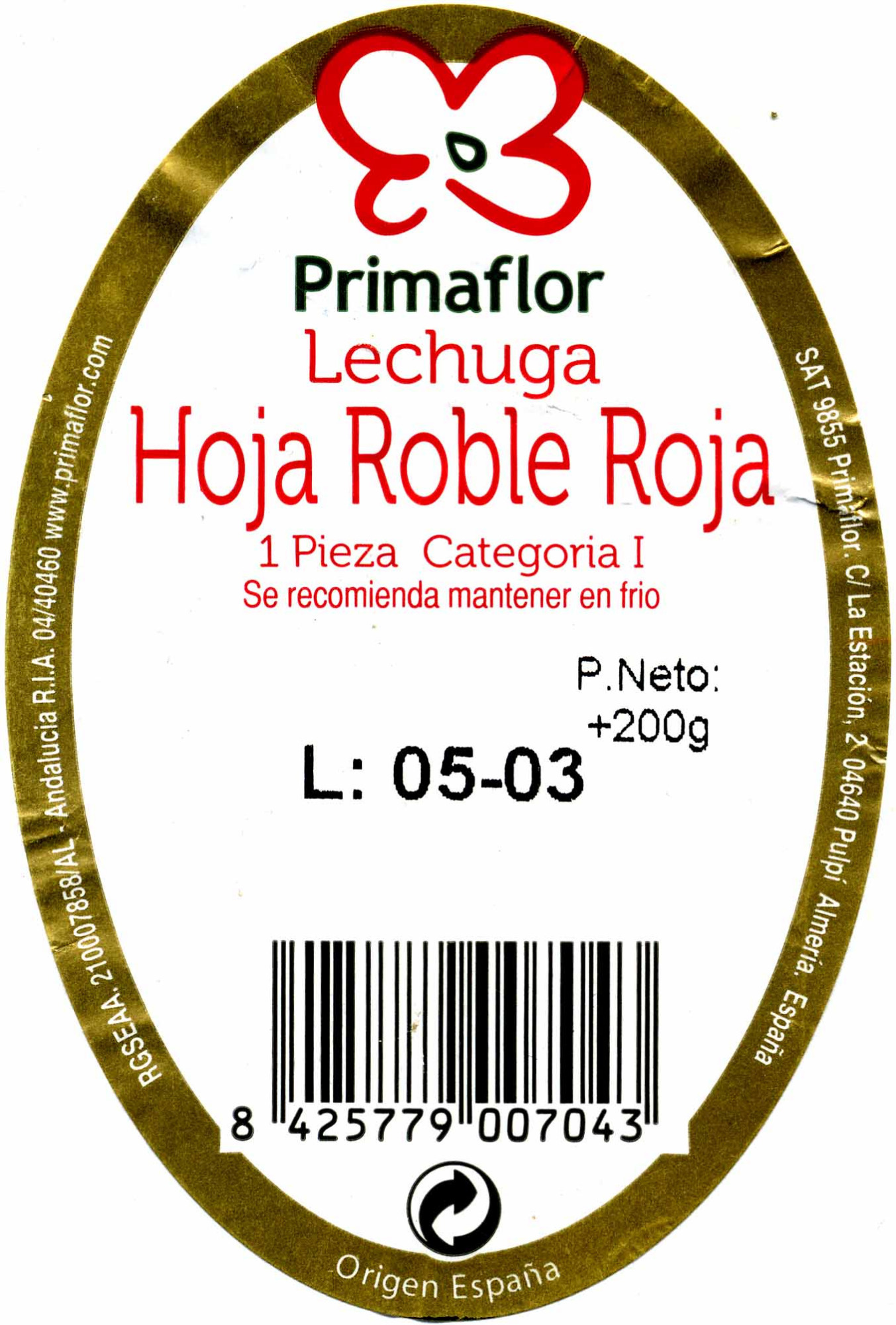 Lehuga hoja de roble - Ingredientes - es
