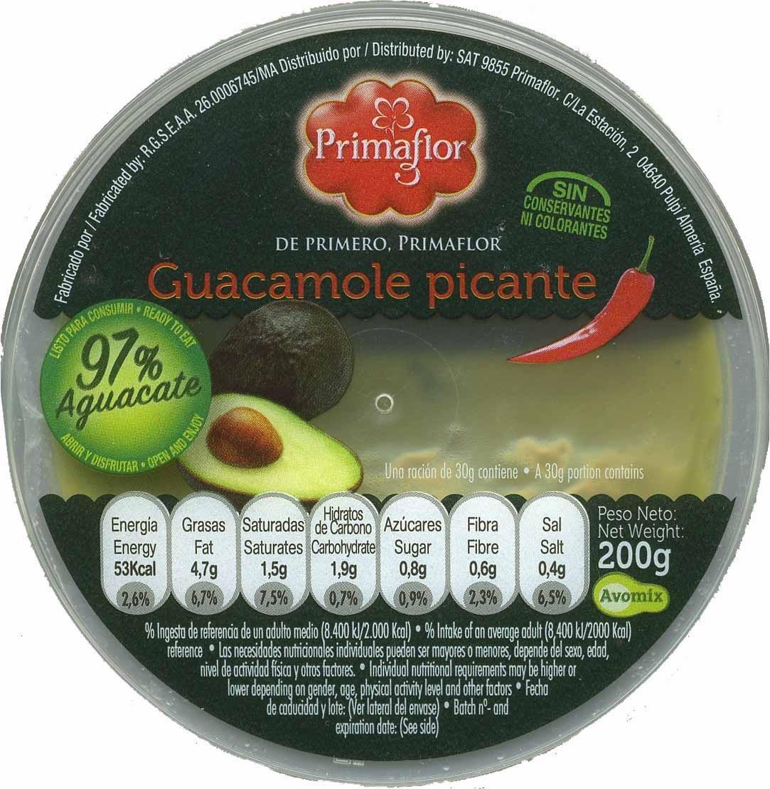 """Guacamole fresco """"Primaflor"""" picante - Produit - es"""