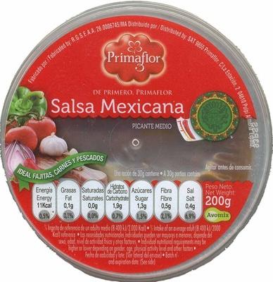 "Salsa mexicana ""Primaflor"" - Producto"