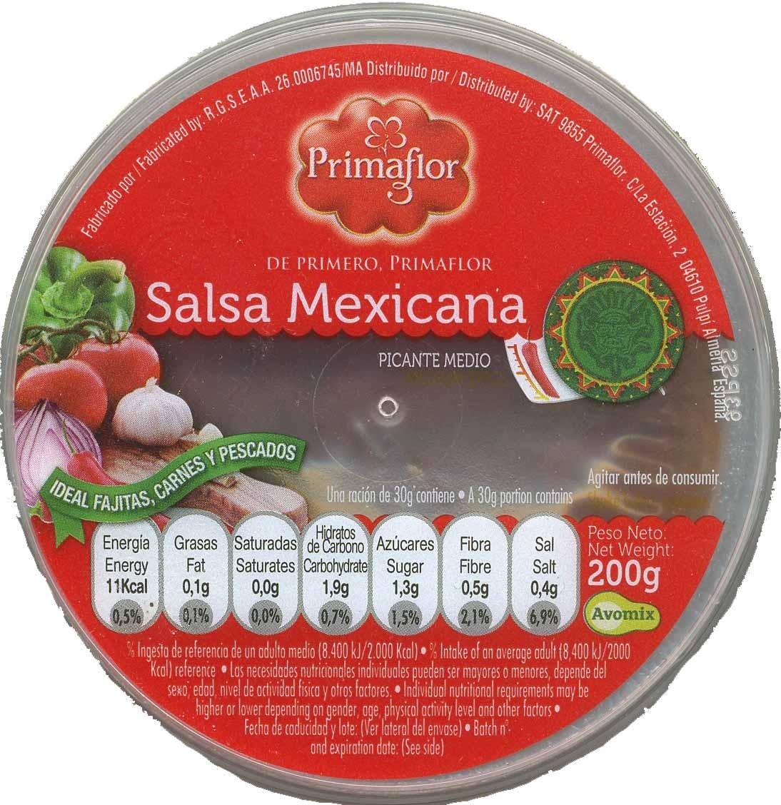 """Salsa mexicana """"Primaflor"""" - Producto - es"""