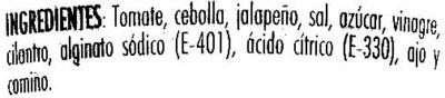 """Salsa mexicana """"Primaflor"""" - Ingredientes - es"""
