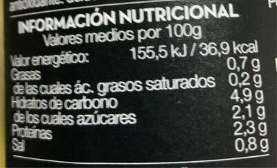 Alcachofa de Tudela - Nutrition facts - es