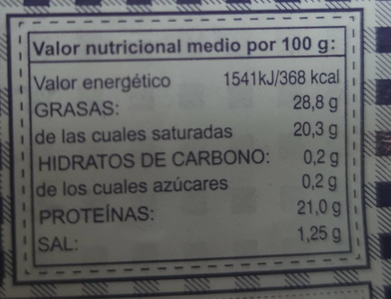 Oro del Valle - Informació nutricional - es