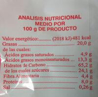 Roscos integrales de canela - Voedingswaarden - es